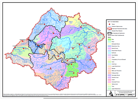 Bristol Avon Catchment area map