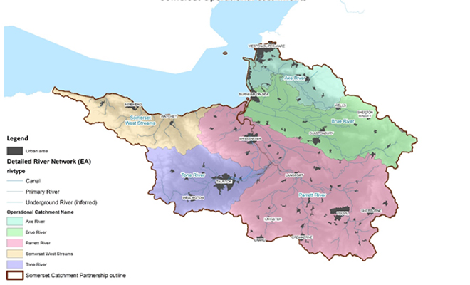 Somerset catchment partnership map
